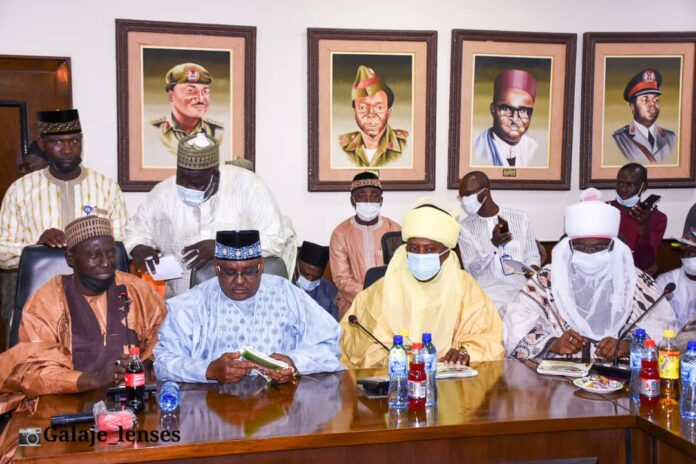 Picture of Bauchi State Governor when he received the emir of Bauchi and other traditional title holders. When they paid him a Sallah homage at the Government House